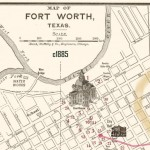 Fort Worth Map of Downtown, Circa 1885