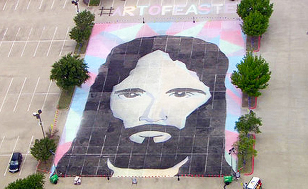 Fellowship Church's Chalk Portrait of Jesus