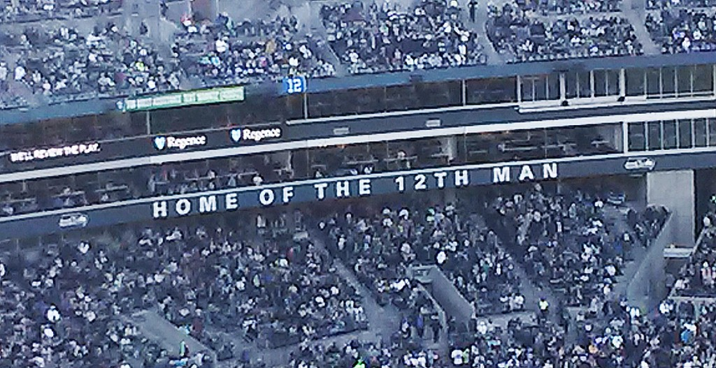 Home of the 12th Man by UW Dawgs - October 13, 2013 game between the Seattle Seahawks and Tennessee Titans at CenturyLink Field. Licensed under CC BY-SA 3.0