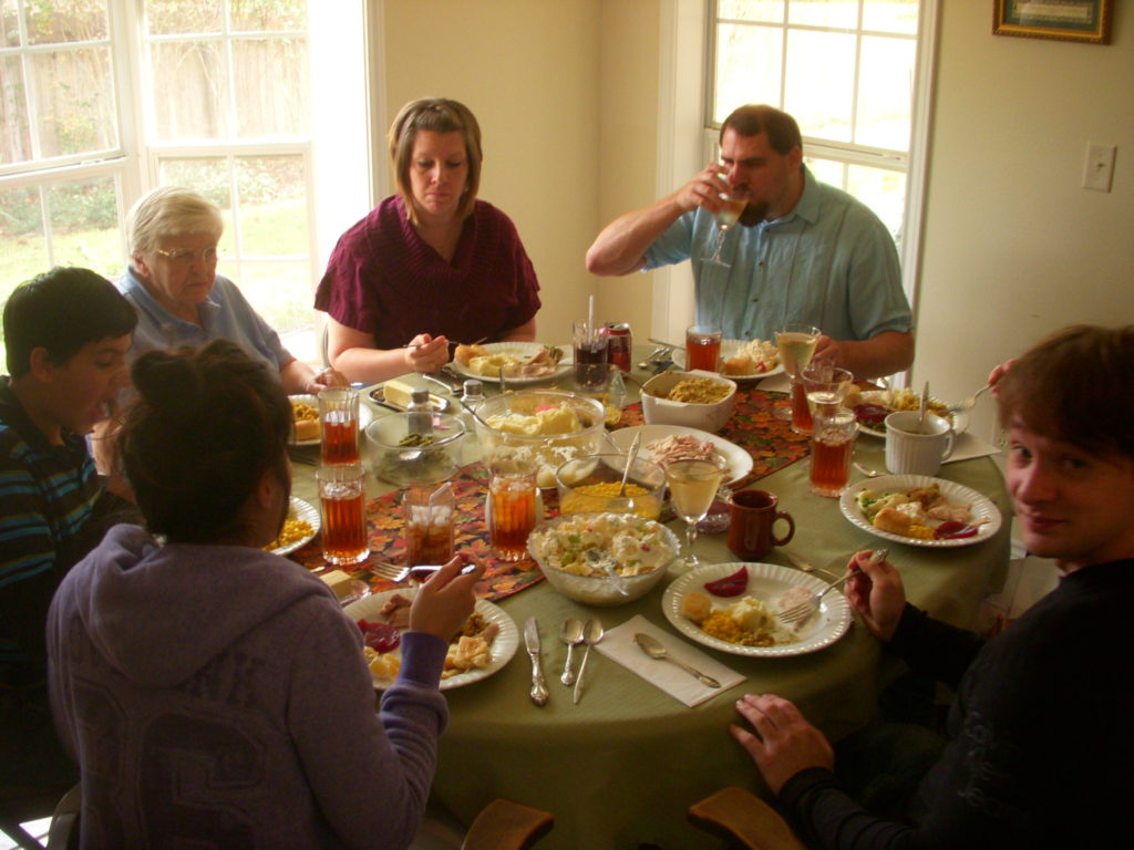 Smith family Thanksgiving feast.