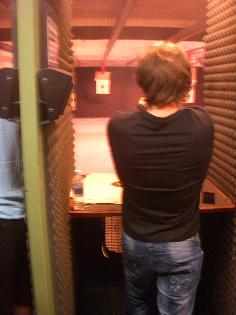 Mike, shooting at the gun range.