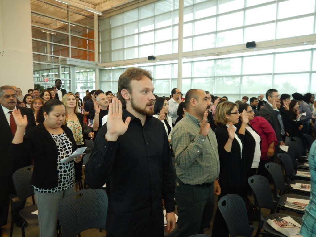Mike, U.S. Naturalization Ceremony for citizenship, Irving, Texas, spring of 2016.