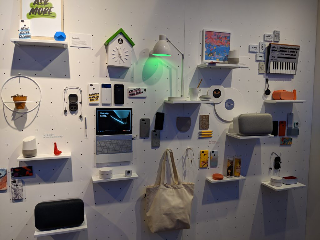 Product displays as a form of entertainment, Google Pop-Up Store, NYC.