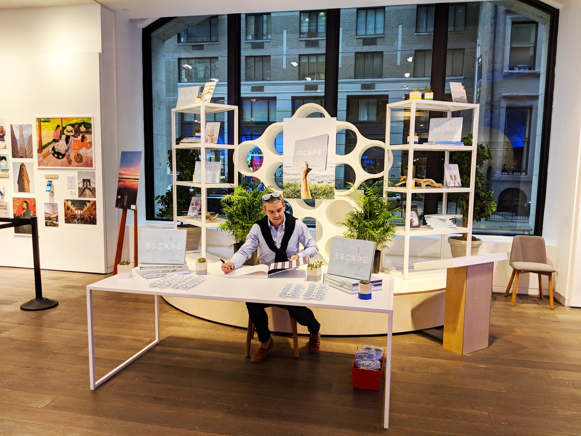 Malin Gray book signing, Google Popup Store, Flatiron District, New York